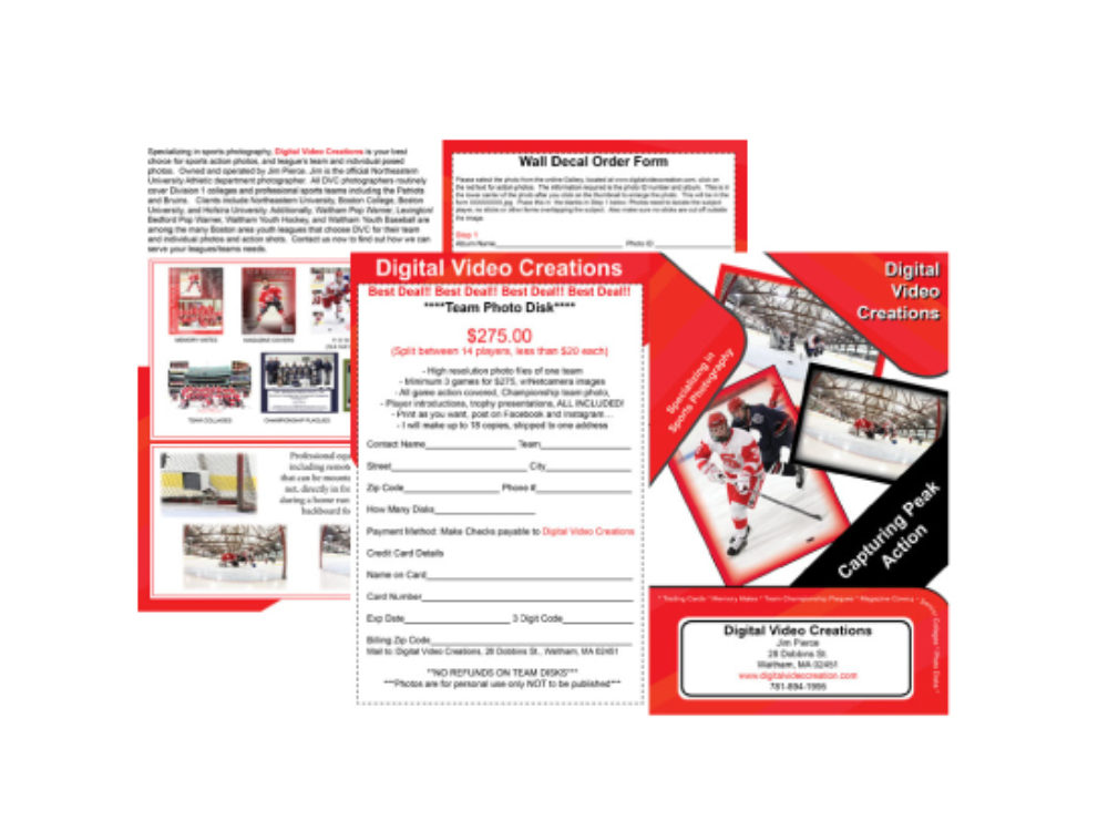 Sports Brochure | Sports Photography Brochure My 2 Cents Graphic Design And
