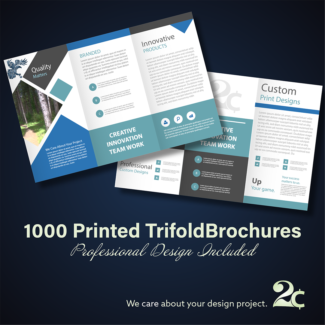 trifold brochures design and print special offer
