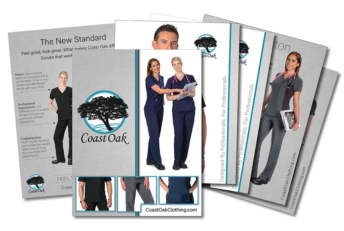 product catalog design multi page medical clothing my 2 cents