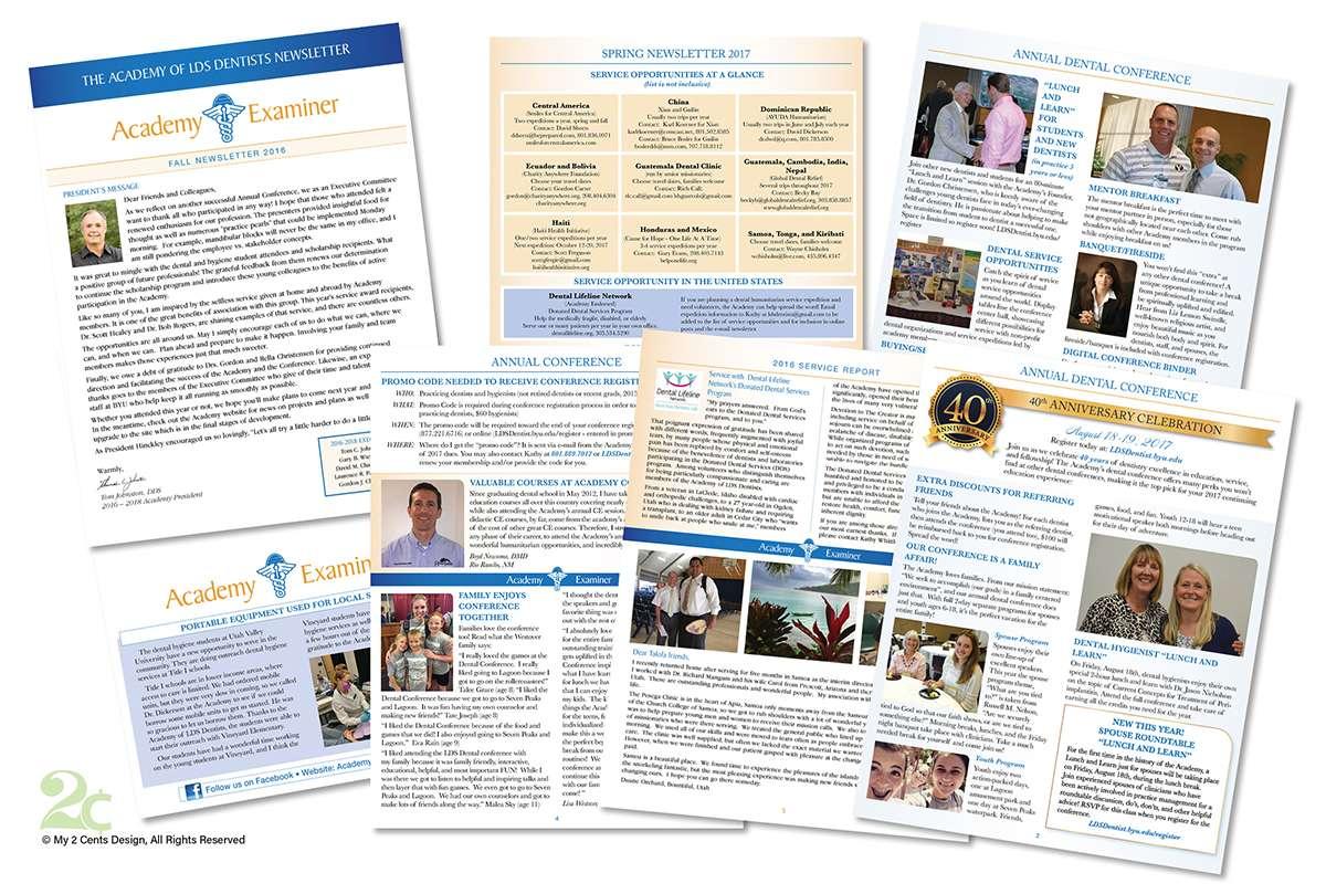 newsletter design for dental non profit organization my 2 cents