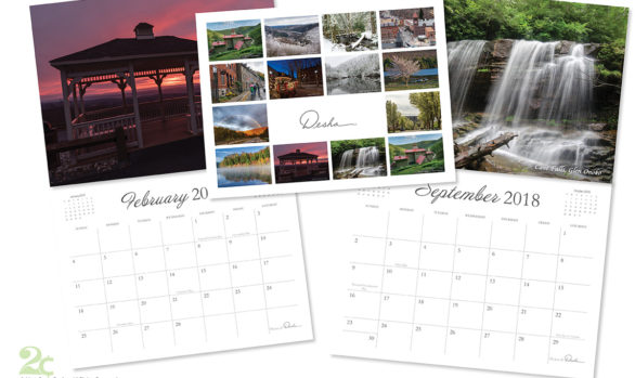 Minimalistic Calendar Design to Showcase Beautiful Photography