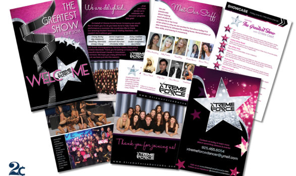 Dance Recital Performance Program Design Example
